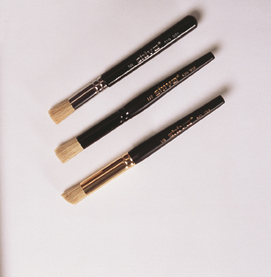 "11 Stencil Brushes Asst. sizes - 11 pcs (sizes 1/8"" through 1 1/4"")"