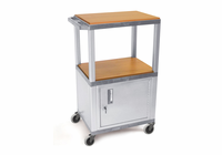 "16""H - 42""H TUFFY CART  W/Nickel Legs"