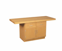 2-Station Workbench w/0 vises-24 Wt-90/115