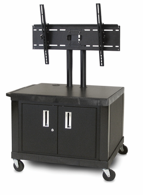 "28"" TUFFY video CART w/ 20"" plasma stand & universal mount"