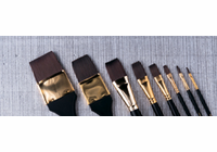 "7010 Quiller Flat Series (Set of 3 brushes - sizes 1/8"", 1/4"" and 1/2"")"