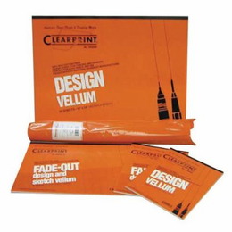 Clearprint� 1000HTS-A Series 24 x 36 Unprinted Vellum Title Block/Border 100-Sheet-Pack - Click to enlarge