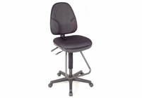 Alvin� Black Executive Drafting Height Monarch Chair