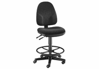 Alvin� Black High Back Drafting Height Monarch Chair