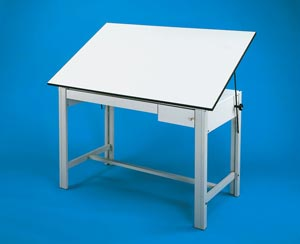 Alvin Designmaster 4-Post Steel Drawing Tables - Click to enlarge