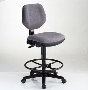 Alvin� Comfort Classic Deluxe Drafting Height Task Chair (Black or Gray) - Click to enlarge