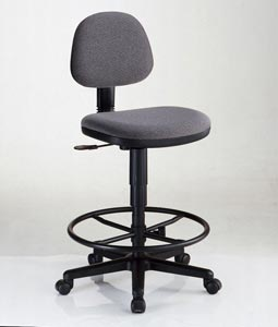 Alvin® Black Comfort Economy Drafting Height Task Chair