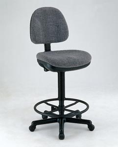 Alvin� Black Leather Premo Drafting Height Ergonomic Chair - Click to enlarge