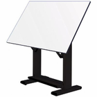 "Alvin� Elite Table, Black Base White Top 37.5"" x 60"""