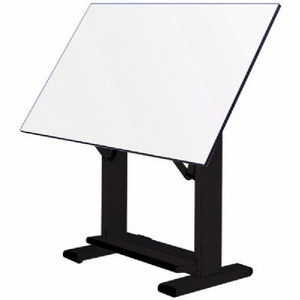 Alvin� Elite Table, Black Base White Top 37.5