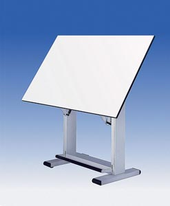 Alvin� Elite Table, White Base White Top 37.5