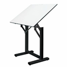 "Alvin� Ensign Table, Black Base White Top 36"" x 48"""