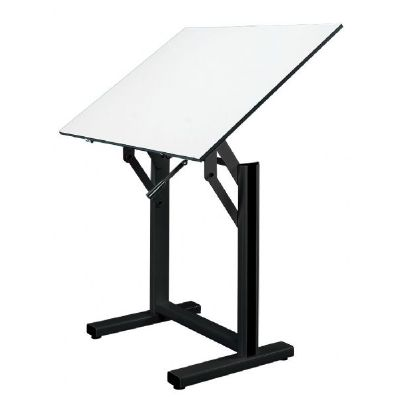 Alvin� Ensign Table, Black Base White Top 36
