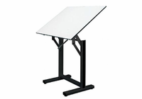 "Alvin� Ensign Table, Black Base White Top 31"" x 42"""