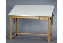 Alvin F3660-37A Wood 4 Post Table 36X60X37H