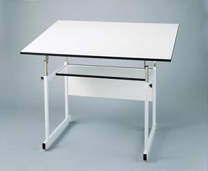 "Alvin� WorkMaster� Jr. Table, White Base White Top 36"" x 48"""