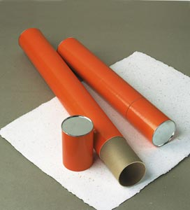 "Alvin® Orange Fiberboard Tubes 25"" (Box of 12)"