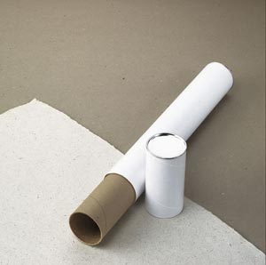 "Alvin® White Fiberboard Tubes 31"" (Box of 24 pcs)"
