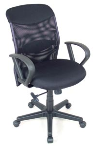 Alvin® Salambro Mesh Fabric Manager's Office Height Chair