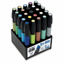 Chartpak� AD� Marker 25-Color Art Director Set - Click to enlarge