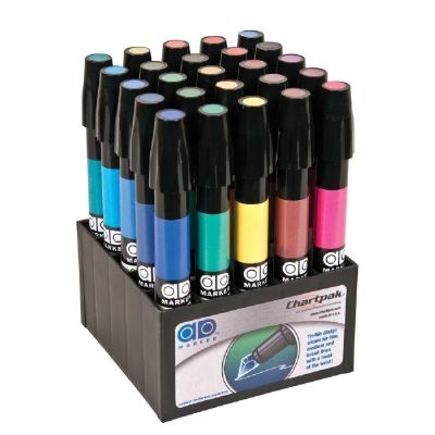 Chartpak® AD™ Marker 25-Color Basic Set - Click to enlarge