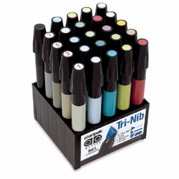 Chartpak� AD� Marker 25-Color Landscape Set - Click to enlarge
