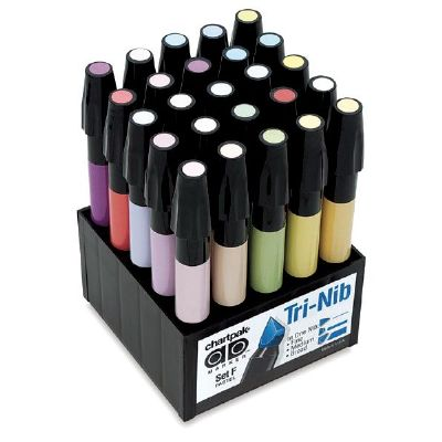 Chartpak� AD� Marker 25-Color Pastel Set - Click to enlarge