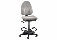 Alvin� Medium Gray High Back Drafting Height Monarch Chair