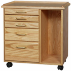 Alvin Oak 5 Drawer Taboret W/ Slot