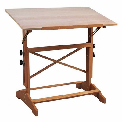 Alvin Pavillon Art and Drawing Table Unfinished Wood Top 24