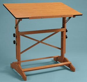 Alvin Pavillon Table 31X42 Unfinished Wood Top