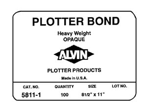Alvin Plotter, Bond, Opaque, 17X22,250