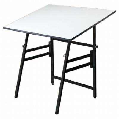 "Alvin® Professional Table, Black Base White Top 24"" x 36"""