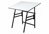 "Alvin� Professional Table, Black Base White Top 31"" x 42"""