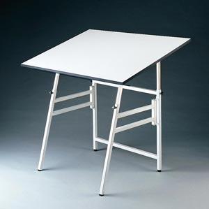 "Alvin® Professional Table, White Base White Top 24"" x 36"""