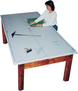 Alvin Protective Mat W/Grid 4X8Ft