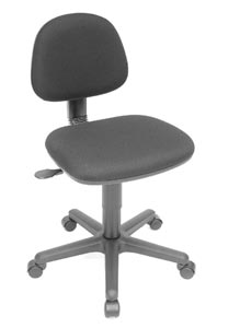 "Alvin Task Chair-""Budget Gas"" Black"