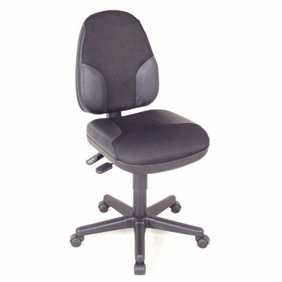 Alvin® Black High Back Office Height Monarch Chair with Leather Accents