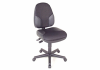 Alvin� Black High Back Office Height Monarch Chair with Leather Accents