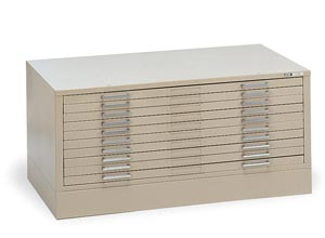 Alvin Ten-Drawer,File,Black
