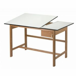 ALVIN� Titan II SPLIT-TOP Solid Oak Drafting Table