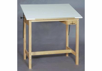 Alvin U3648-37A Wood 4 Post Table 36X48X37H