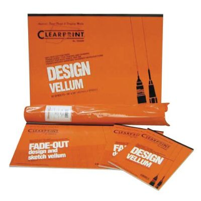 Clearprint® 1000H Series 18 x 24 Unprinted Vellum 100-Sheet Pack