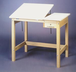 Alvin Wood 4 Post Table 30X42X30H
