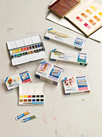 Aquafine Watercolor Bean Set (18 half pans) - Click to enlarge