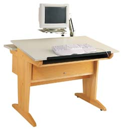 Art/CAD/Graphics Table w/extension arm
