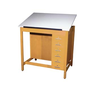 Art/Drafting Table - 1 piece adjustable-32 Wt-215