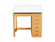 Art/Drafting Table - 36x24x30-1/4 - 6 drawer