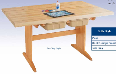 Art/Planning Table w/tote trays  (Quick Ship)-9 Wt-140