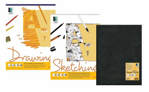 Artists� Value Pack (1 Hard-bound Sketch-book & 2 Drawing Pads)